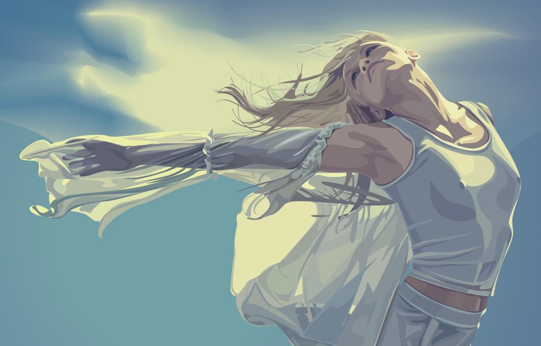 Photo wallpaper girl, vector, Dance