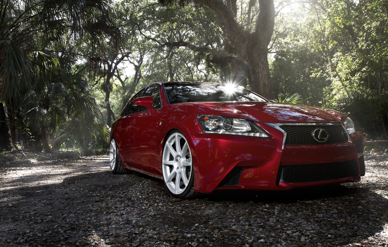 Photo wallpaper Lexus, Red, Sport, GS F, VMB8, Matte Silver, Velgen
