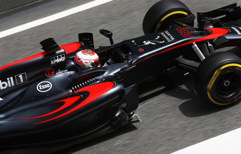 Photo wallpaper McLaren, Honda, Formula 1, Jenson Button