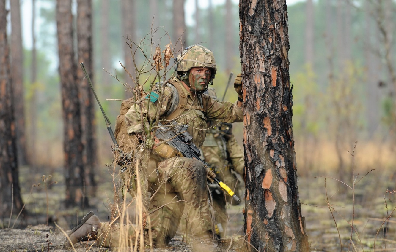 Wallpaper weapons, soldiers, British Parachute Regiment