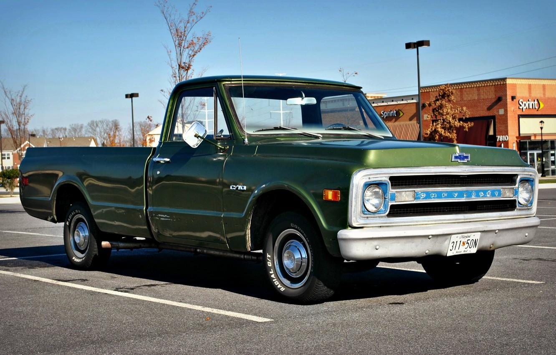 Photo wallpaper car, auto, Chevrolet, classic, vintage, cars, vintage, Chevy, truck, Pickup, Chevy C10, C10