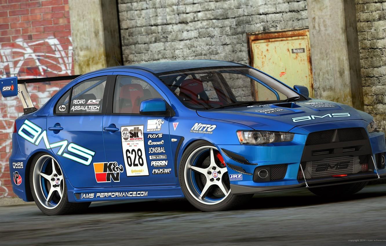 Photo wallpaper Mitsubishi, Evo X, Lancer, Car, Race, Car, Lancer, Racing, Mitsubishi, by Dangeruss, Time Attack