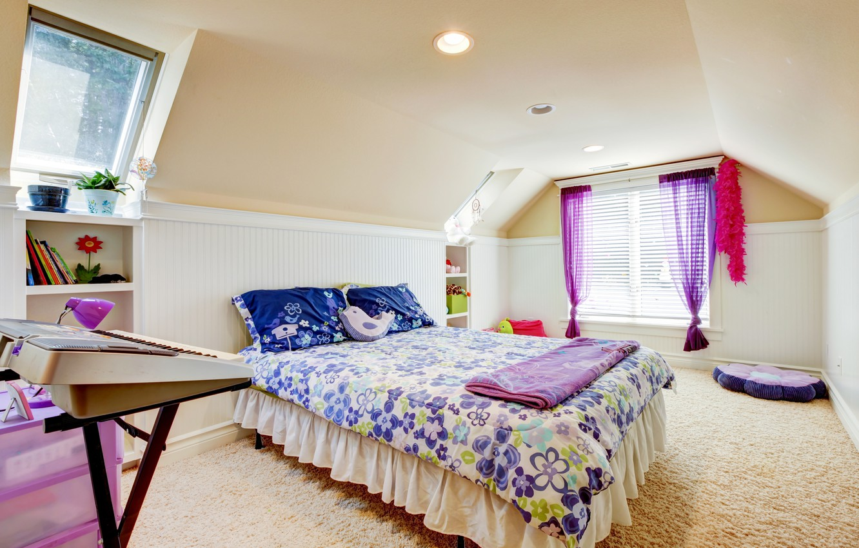 Photo wallpaper comfort, room, carpet, plants, pillow, window, bed, pots