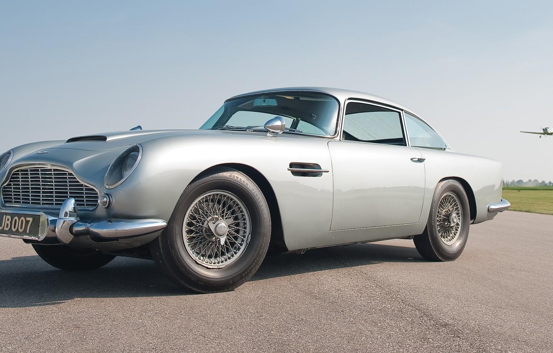 Photo wallpaper grey, Aston Martin, classic, 1964, DB5, the James bond car