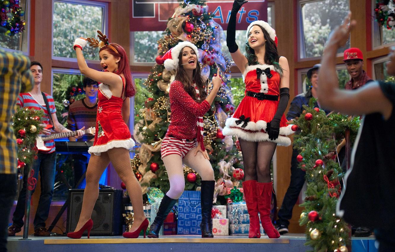 Photo wallpaper holiday, Christmas, dancing