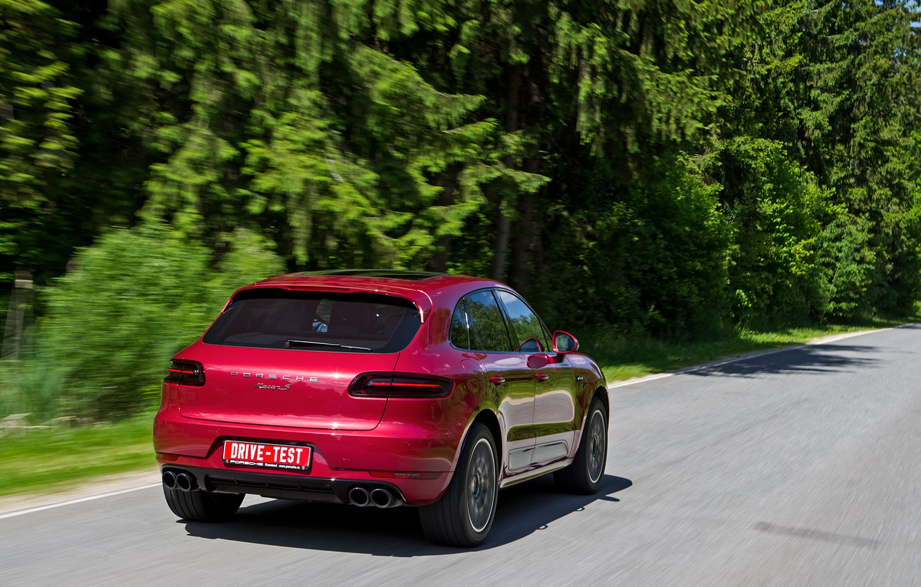 Photo wallpaper Porsche, SUV, Macan