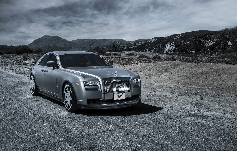 Photo wallpaper car, tuning, Rolls Royce, Ghost, Vorsteiner, rolls Royce