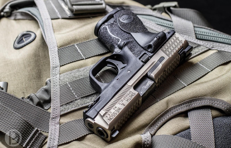 Photo wallpaper gun, 9mm, Smith & Wesson, M&P9C, Smith & Wesson M&P9C