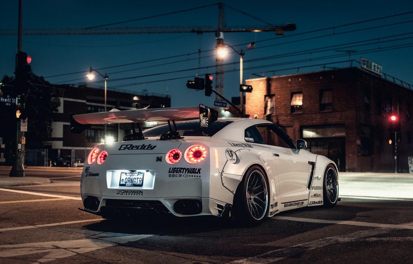 Photo wallpaper car, Nissan, tuning, rechange, nissan gt-r, hq Wallpapers, liberty walk