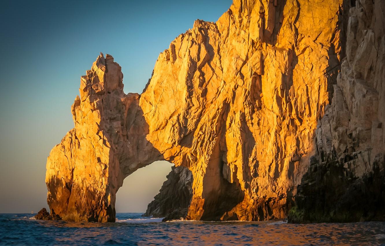 Photo wallpaper beach, the ocean, rocks, shore, Cabo San Lucas Centre,