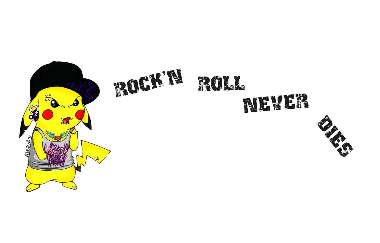 Photo wallpaper Tattoo, Rock`n`Roll, Pikachu, Pikachu