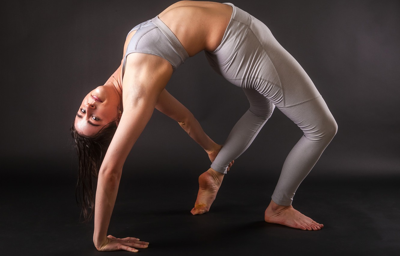 Photo wallpaper girl, pose, background, flexibility, figure