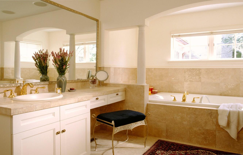 Photo wallpaper design, house, style, room, Villa, interior, bathroom