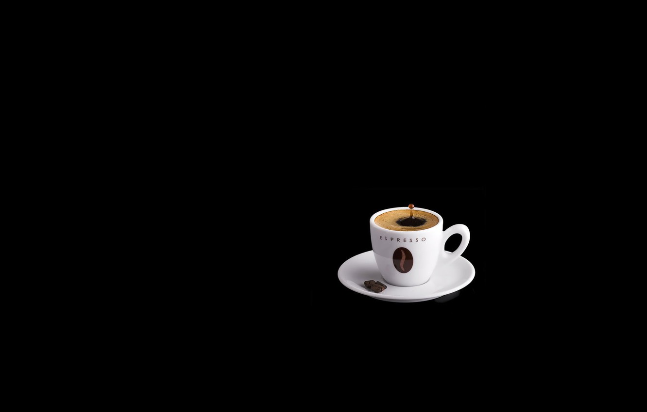 Wallpaper Coffee Cup Black Background Images For Desktop