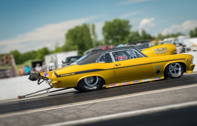 Photo wallpaper race, Chevrolet, Camaro, muscle car, Muscle car, Yenko, drag racing