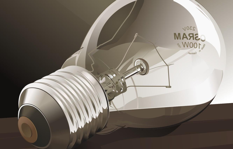 Photo wallpaper light bulb, vector