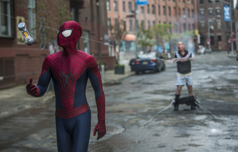 Photo wallpaper spider man, Andrew Garfield, Paul Giamatti, the amazing spider man 2