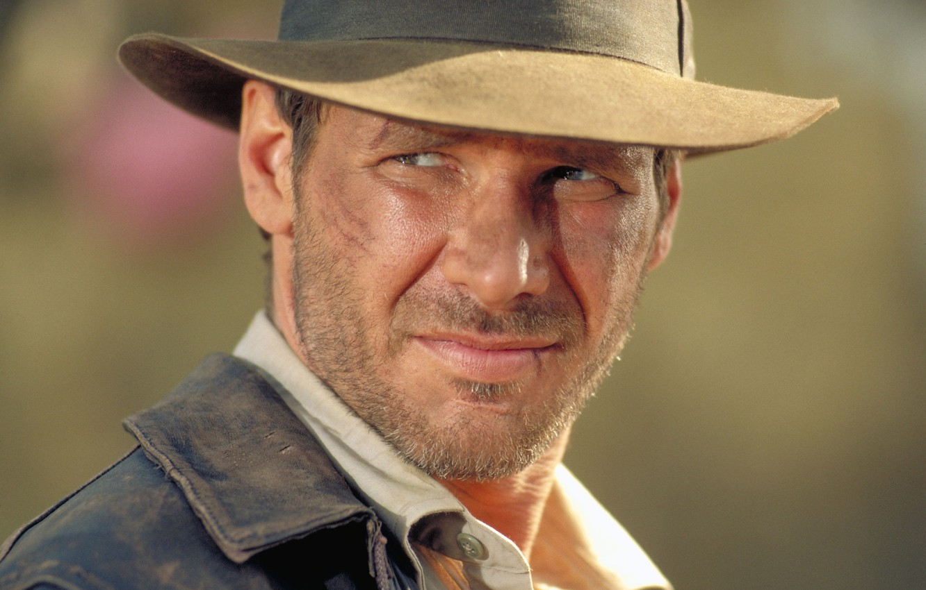 Photo wallpaper look, face, hat, Harrison Ford, Harrison Ford, Indiana Jones and the Temple of doom, Indiana …