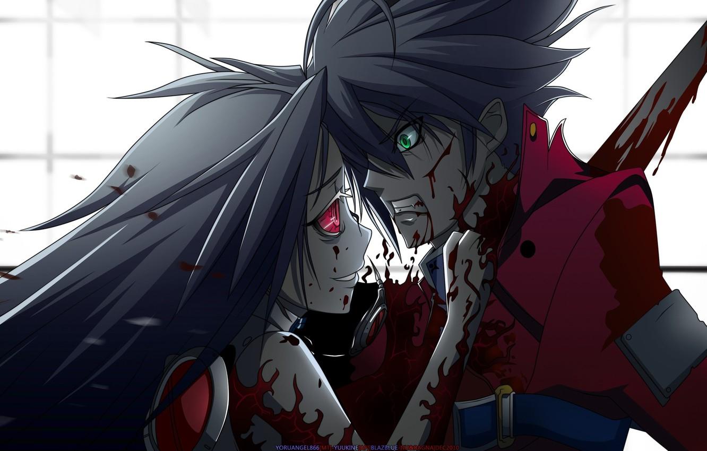 Photo wallpaper blood, anime, murder, girl, kid
