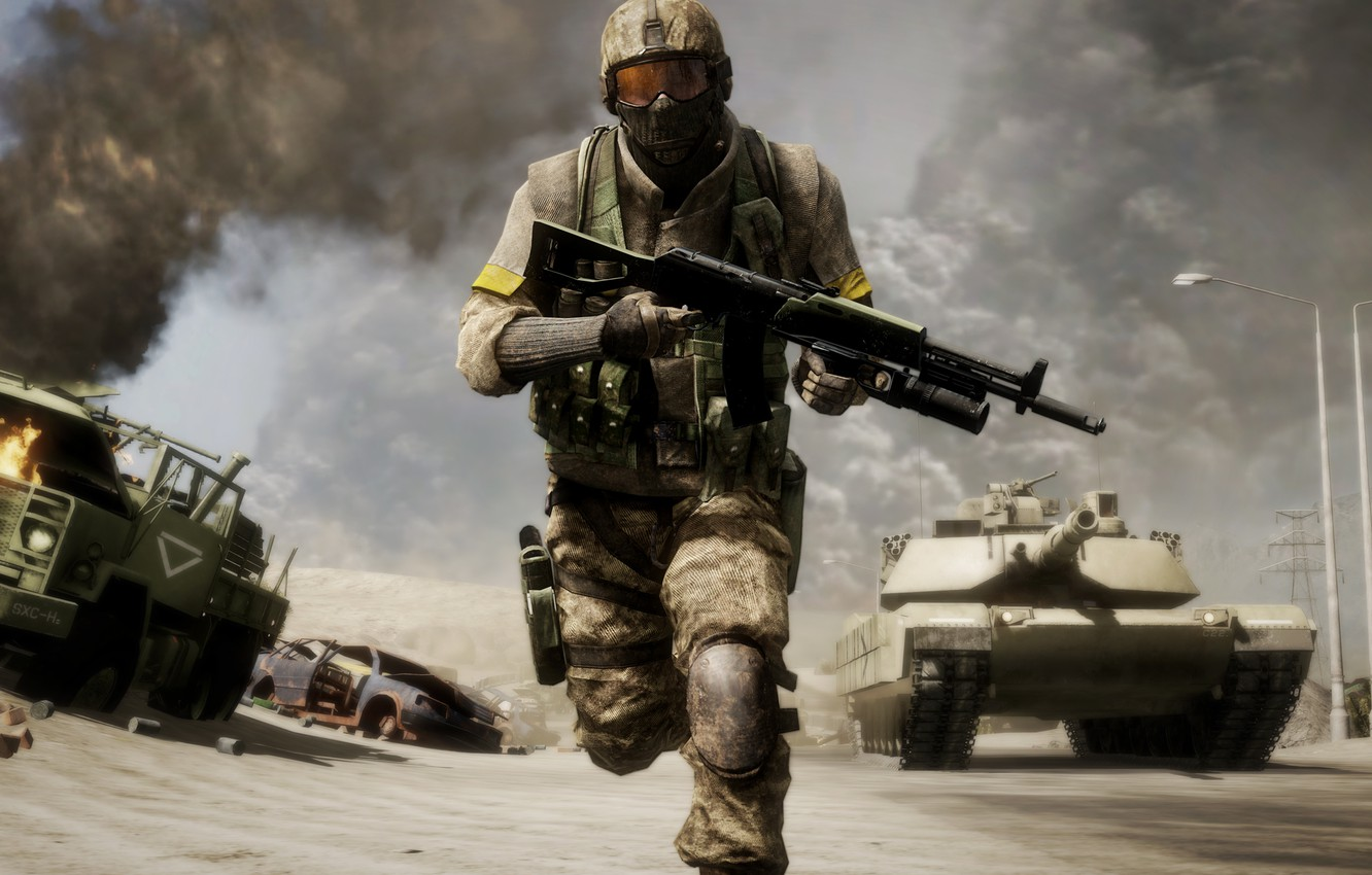 Photo wallpaper the game, Bad, Battlefield, Company