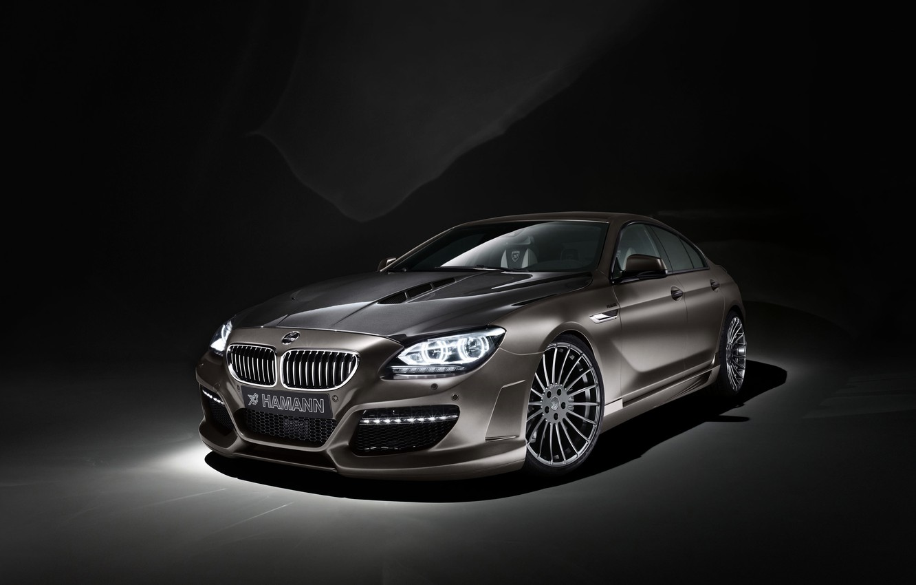 Photo wallpaper BMW, Tuning, Sedan, Lights, Hamann, Coupe, The front