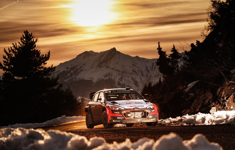 Photo wallpaper Hyundai, WRC, Rally, Rally, Monte Carlo, i20
