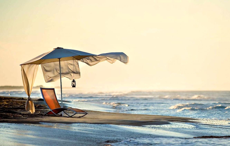 Photo wallpaper sea, beach, summer, the sky, landscape, nature