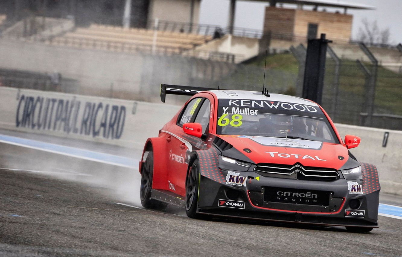 Photo wallpaper Citroen, Citroen, WTCC, Muller, Damp, C-Elycee