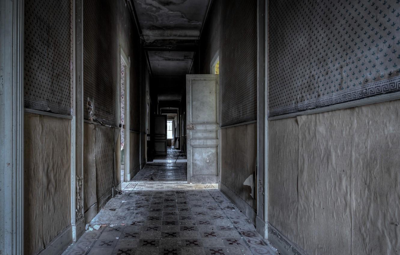 Photo wallpaper wall, door, corridor