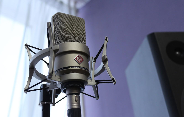 Photo wallpaper music, sound, microphone, neumann, Studio