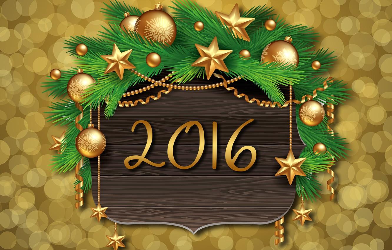 Photo wallpaper decoration, balls, tree, New Year, Christmas, golden, balls, New Year, Xmas, decoration, Happy, 2016