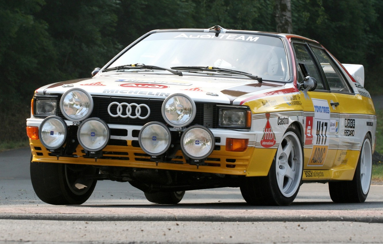 Photo wallpaper background, Audi, Audi, the front, Quattro, Group B, Quattro, Rally car