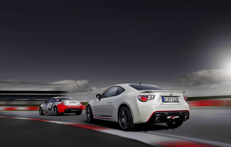 Photo wallpaper Auto, White, Machine, Toyota, Car, Blik, GT86, Two, GT 86, Cup Edition