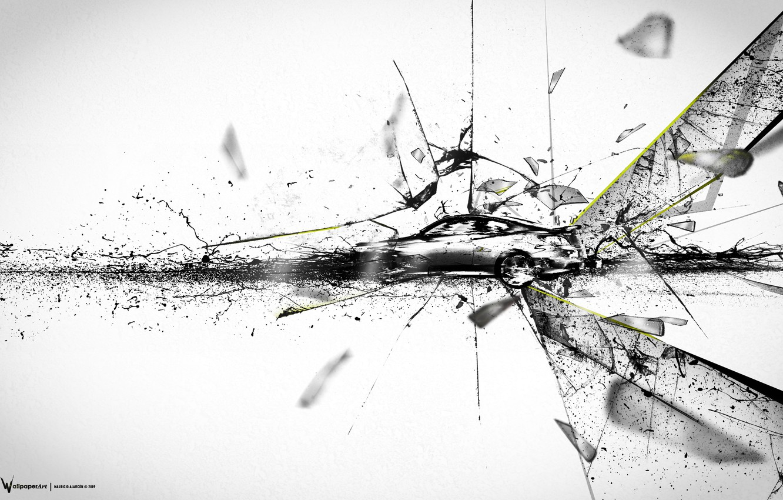 Photo wallpaper machine, fragments, ink