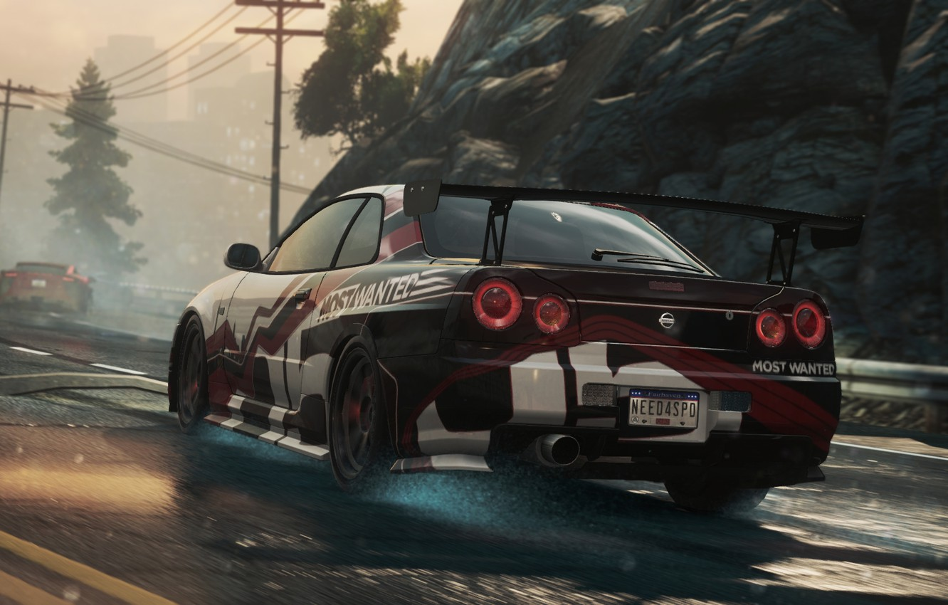 Photo wallpaper NFS, 2012, Most Wanted, Need for speed, Nissan Skyline GT-R