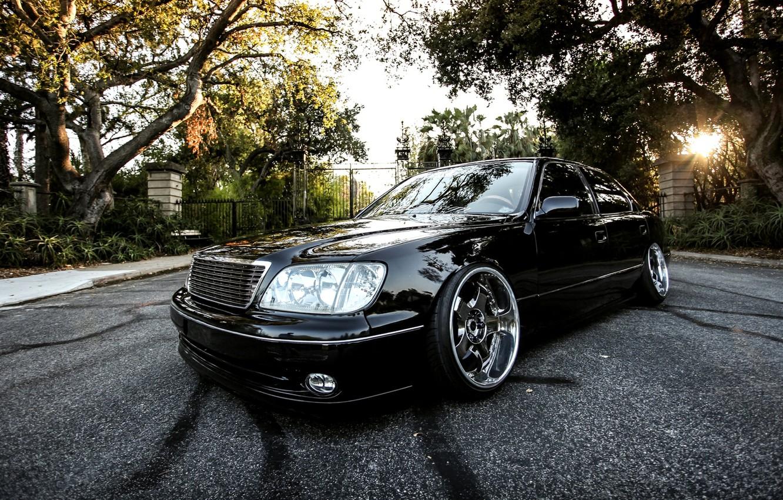 Photo wallpaper Black, Machine, Tuning, Lexus, Car, Car, Black, Wallpapers, Tuning, Beautiful, VIP, Automobiles, Stance, Luxury, ЛС400, …