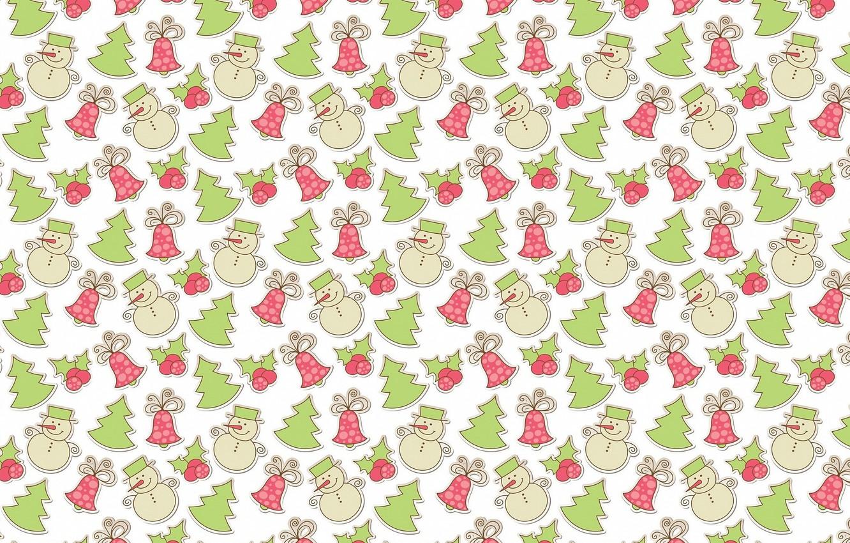 Photo wallpaper mood, holiday, gift, texture, art, New year, snowman, tree, herringbone