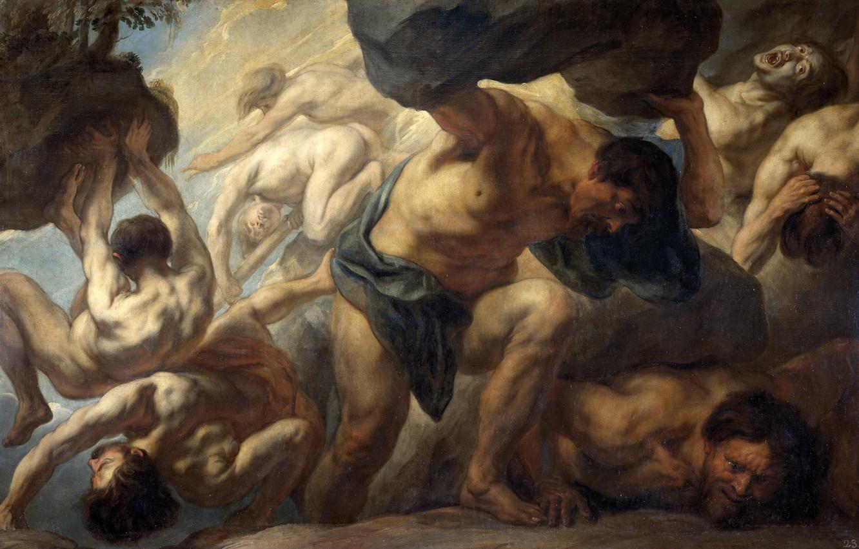 Photo wallpaper picture, mythology, Jacob Jordaens, Fall Of Giants