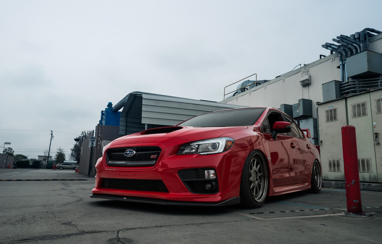 Photo wallpaper Subaru, WRX, red, STI