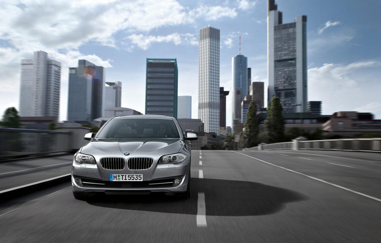 Photo wallpaper road, auto, bridge, city, the city, bmw, BMW