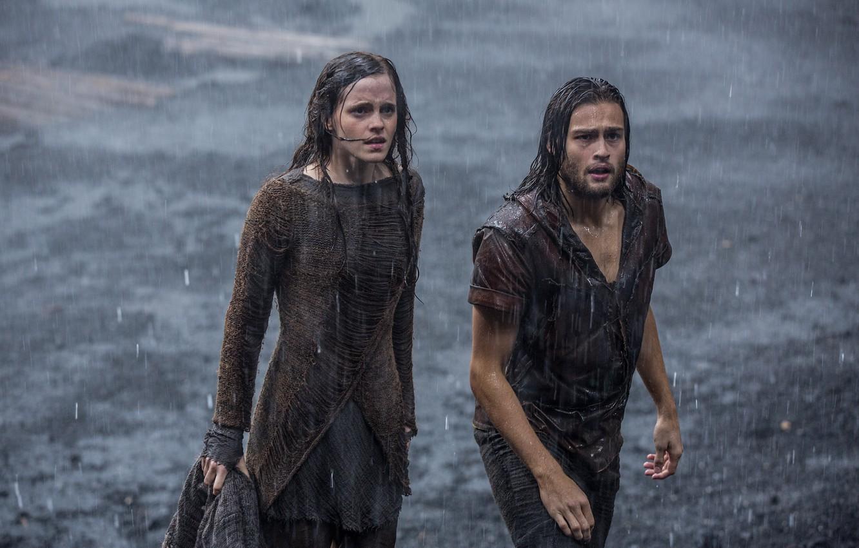 Photo wallpaper rain, movie, the film, Emma Watson, Emma Watson, Noah, Douglas Booth, Sludge, SIM, NOAH, Douglas …