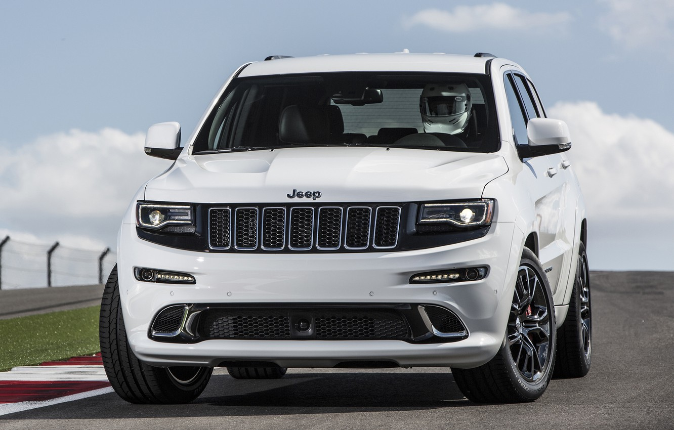 Photo wallpaper car, jeep, front, SRT, Jeep, Grand Cherokee, powerful