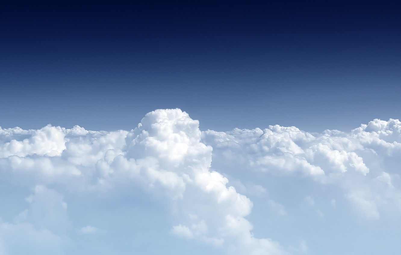Photo wallpaper clouds, height, stratosphere