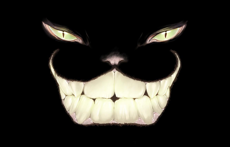 Photo wallpaper eyes, smile, art, Cheshire Cat, Alice In Wonderland