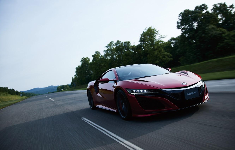 Photo wallpaper road, car, auto, speed, Honda, Honda, speed, NSX