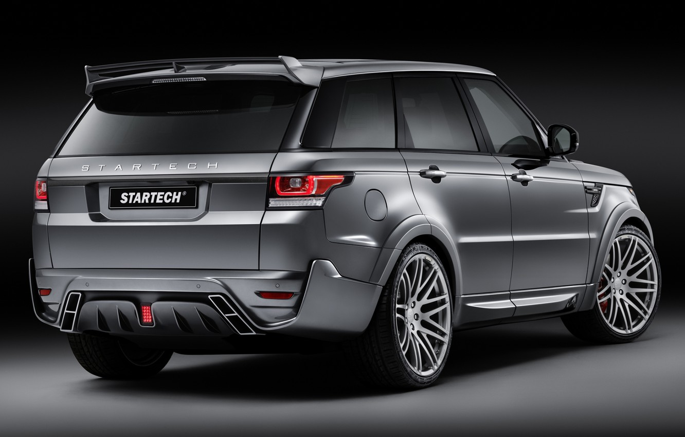 Photo wallpaper background, tuning, Sport, jeep, SUV, Land Rover, Range Rover, rear view, tuning, Sport, Land Rover, …