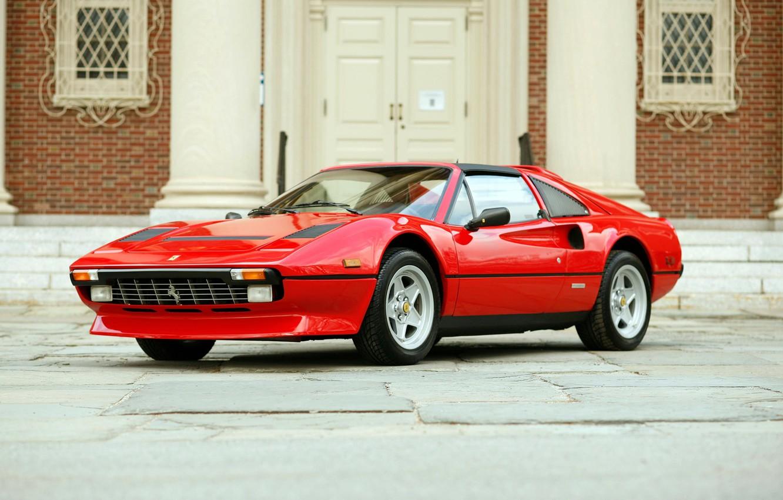 Photo wallpaper Ferrari, drives, red, classic, rarity, 308