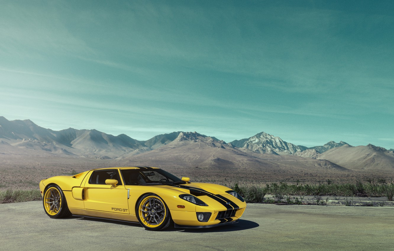 Photo wallpaper Ford, supercar, yellow, William Stern