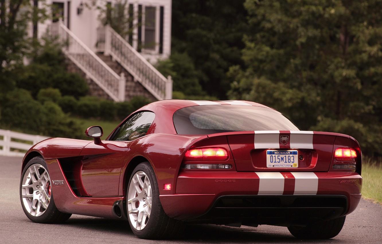 Photo wallpaper red, Dodge, Dodge, Viper