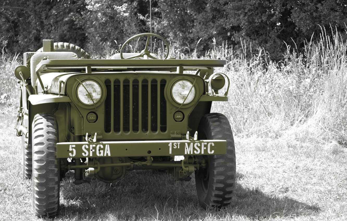 """Photo wallpaper grass, war, car, the front, army, Jeep, high, patency, world, Second, times, """"Willis-MV"""", Willys MB"""